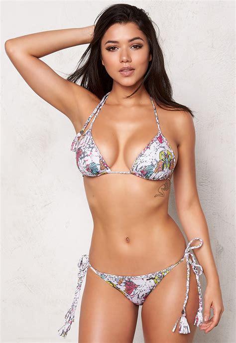 Odd Molly Triangle Bikini Top Light Porcelain - Bubbleroom