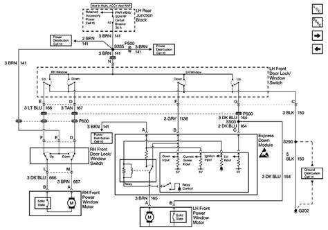 power window switch wiring diagram
