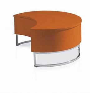 Table Basse Relevable Laque Orange Pied Acier Chrom Luna