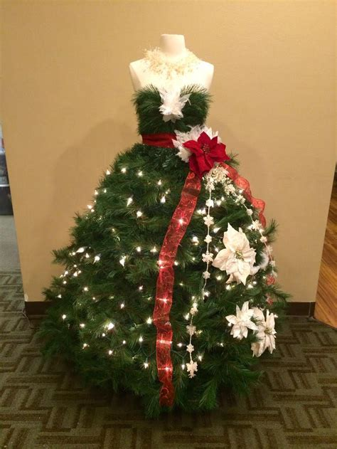 diy dress form christmas tree for the intermediate crater