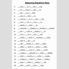 Balancing Chemical Equations  Mr Durdel's Chemistry