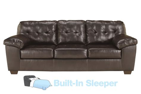 leather sleeper sofa queen alliston bonded leather queen sleeper sofa at gardner white