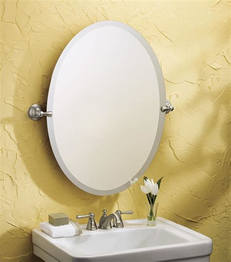Tilting Bathroom Mirror by Moen Dn6892bn Bathroom Oval Tilting