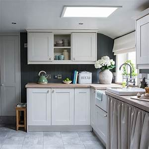 Shaker, Style, Kitchen, Makeover, With, Modern, Grey, Walls