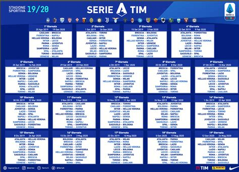 calendario serie tutte le gare della juventus