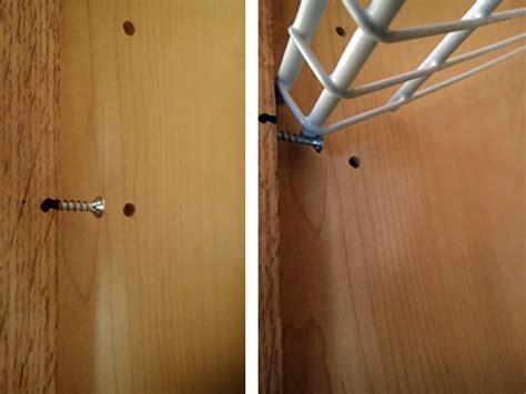 kitchen cabinet screws keep coming diy kitchen cabinet organization rotation shelves