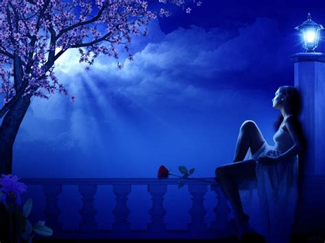 Moon Girl Looking Up  Image Located In Category Great