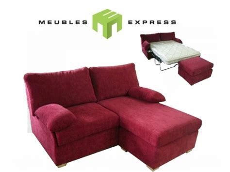 canapé récamier sofa sectionnel 6 places avec lit meubles express