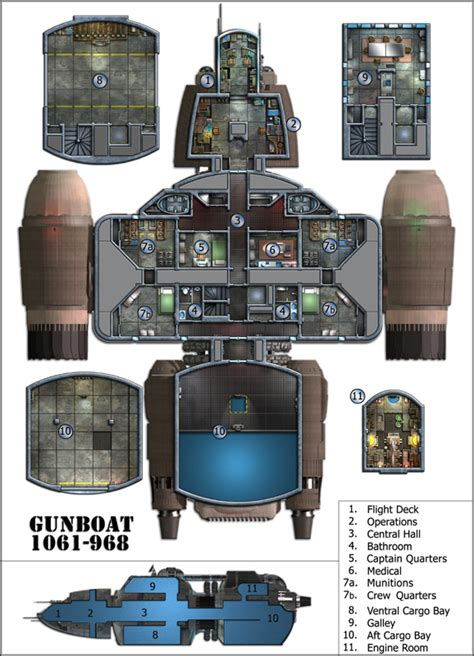 sci fi spacecraft deck plans pics about space