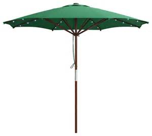 corliving green patio umbrella with solar power led lights