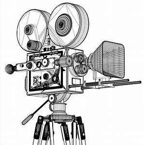 Video camera #19 (Objects) – Printable coloring pages