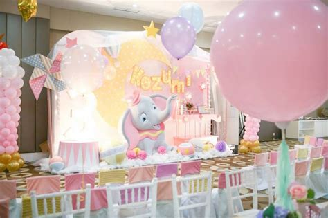 Kara's Party Ideas Girly Circus + Dumbo Birthday Party