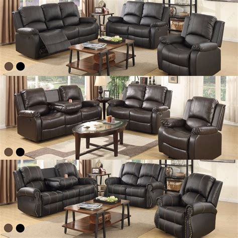 two sofa living room sofa set loveseat couch recliner leather 3 2 1 seater