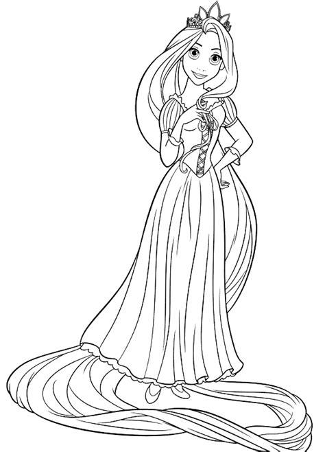 principesse disney da colorare rapunzel rapunzel rapunzel indossa la corona