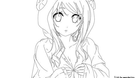 Free Anime Girl Lineart By Sweetdevil332 On Deviantart
