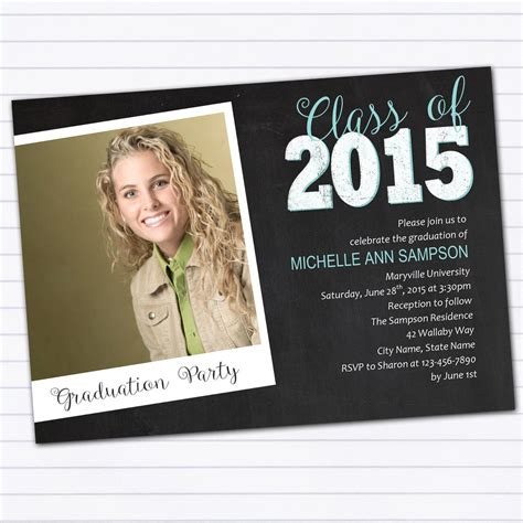 Graduation Announcement Template College Graduation Invitations Invitations