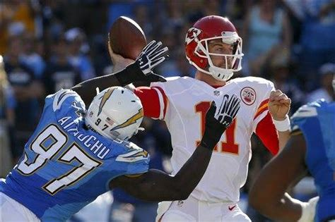 Houston's Pick-6, Poe's Td Run Carry Chiefs Over Chargers