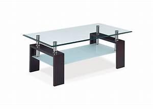 Table Basse En Verre Pas Cher : table basse en verre pas cher en weng ou blanc la table ~ Melissatoandfro.com Idées de Décoration