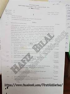 Nums 1st Year Mbbs Past Papers