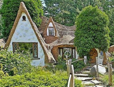 snow whites cottage  house built  fairy tale style