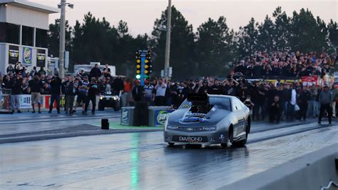 The competitors in a race try to complete a given task in the shortest amount of time. Outlaw small tire drag racing fromLights Out 11