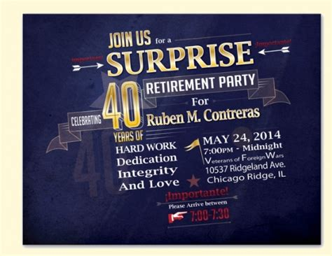 modern surprise party invitation templates psd ai word