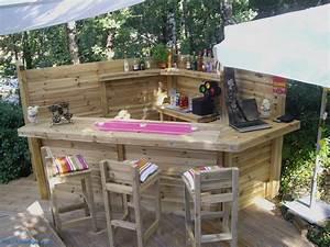 Bar Exterieur En Bois : bar en palettes de r cup par motonina fabriquer un ~ Premium-room.com Idées de Décoration