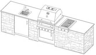 kitchen floor plans free outdoor kitchen plans with cad pro