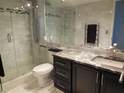 Modern Small Bathroom Renovations by Small Kitchen Bathroom Reno Contemporary Bathroom