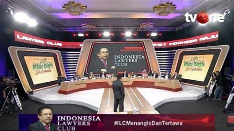 ilc tv  bahas menteri jokowi karni ilyas singgung