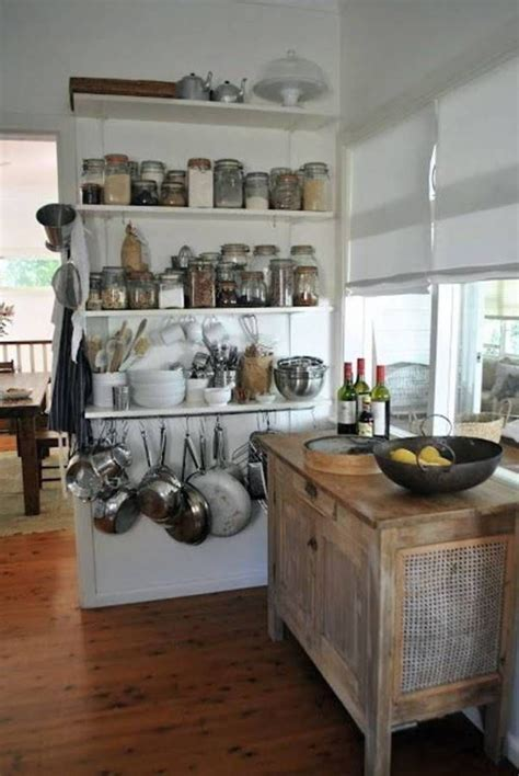 kitchen storage solutions open diy kitchens shelves wall cabinets pans pots hanging organization shelving wood cabinetry designs organize island rustic