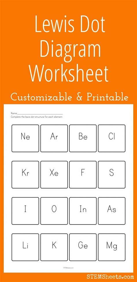 customizable  printable lewis dot diagram worksheet