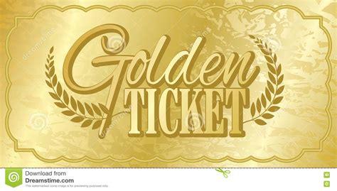 golden ticket stock vector illustration  aged stub
