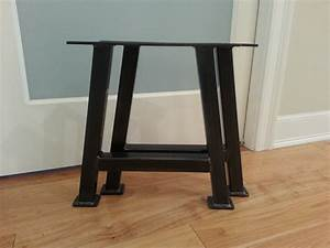 inspirations metal bench legs with custom sizes for With metal legs for furniture home depot