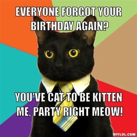 Cat Birthday Memes - sad birthday cat meme generator image memes at relatably com