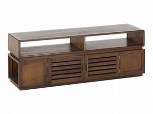 Meuble Tv Buffet : pack ethnique buffet table basse et meuble tv en teck ~ Teatrodelosmanantiales.com Idées de Décoration