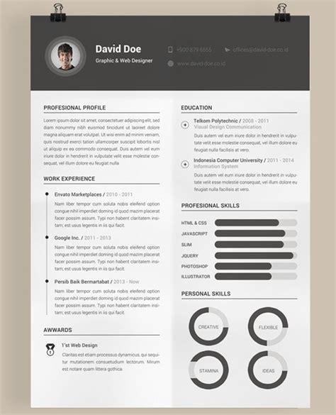 Free Creative Resume by 40 Best 2018 S Creative Resume Cv Templates Printable Doc