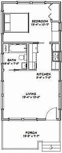 Tiny House Pläne : 16x32 tiny house 16x32h1 511 sq ft pdf house plans garage plans shed plans tiny ~ Eleganceandgraceweddings.com Haus und Dekorationen