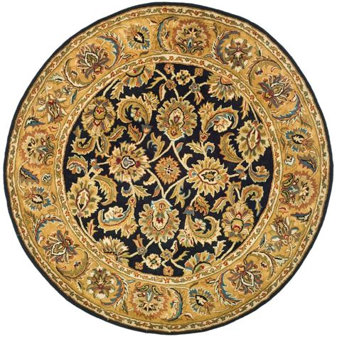 Rug Gold by Safavieh Classic Black Gold 6 Ft X 6 Ft Area Rug