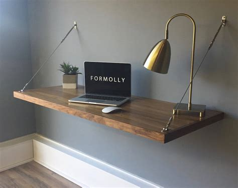 wall mounted desk floating desk wall mounted desk walnut