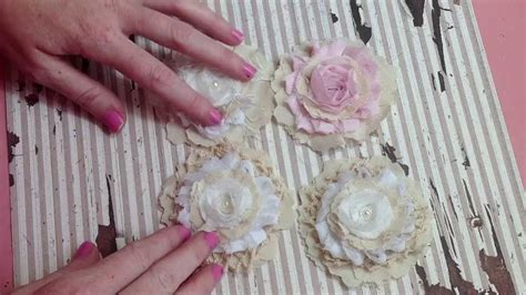 how to make shabby chic flowers out of fabric simple shabby handmade flower tutorial youtube