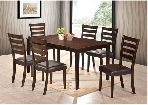 pc dining room table  side chairs uph black seat