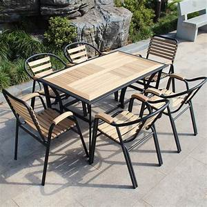 Salon De Jardin Bois Et Metal : salon de jardin bois de meubles de loisirs balcon meubles de patio tables en fer forg et ~ Teatrodelosmanantiales.com Idées de Décoration