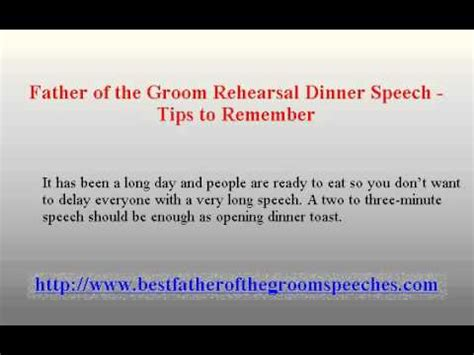 father   groom rehearsal dinner speech tips