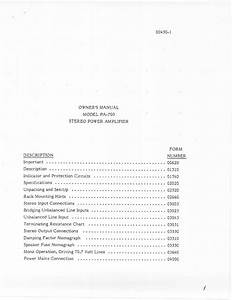 Pa-700 Manuals