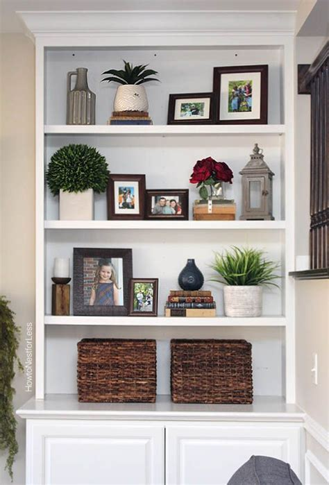 Living Room With Bookcases Ideas by Styled Family Room Bookshelves Decorating Bookshelf