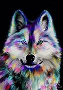 Back to Nick Gustafson   Art   Paintings   Art Paintings  Colorful Wolf Painting