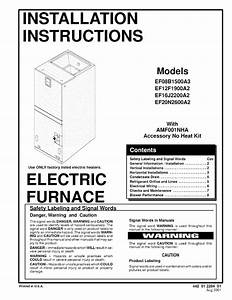 Sears Furnace Ef12f1900a2 User Guide