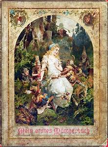 Old German Snow White And The Seven Dwarfs Illustration