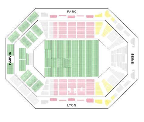plan de salle bercy bercy palais omnisports accorhotels arena